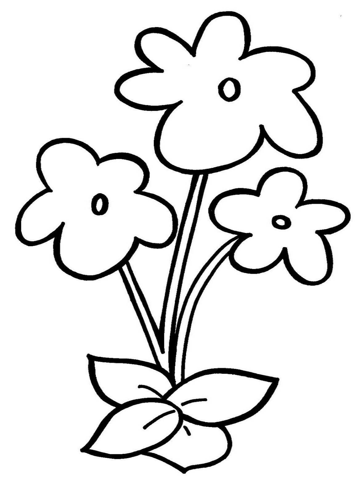 1172x1600 Flowers Drawing For Kids In Colour