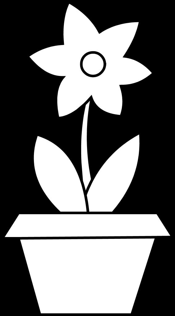567x1024 Drawn Pot Plant Coloring Page