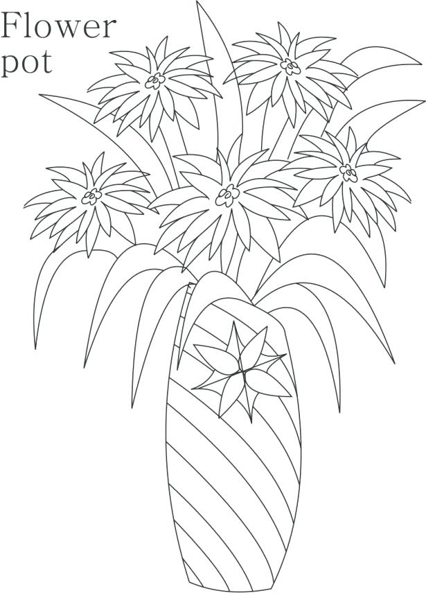 Flowers In A Pot Drawing at GetDrawings.com | Free for personal use ...