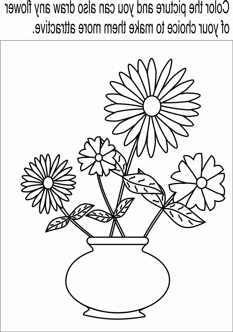 Flowers In A Pot Drawing At Getdrawings Com Free For Personal Use