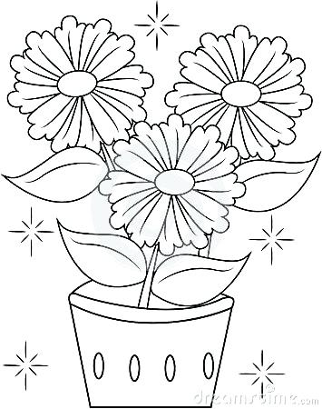 355x450 Top Rated Flower Pot Coloring Page Pictures Flower Pots