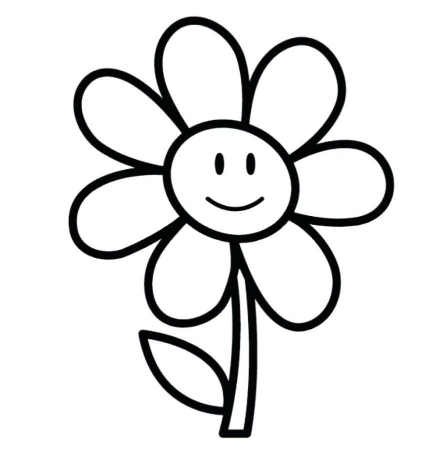 878x897 Pretty Flowers To Draw For Kids