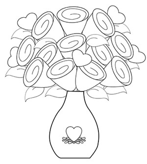 300x333 Flower Vase Coloring Pages