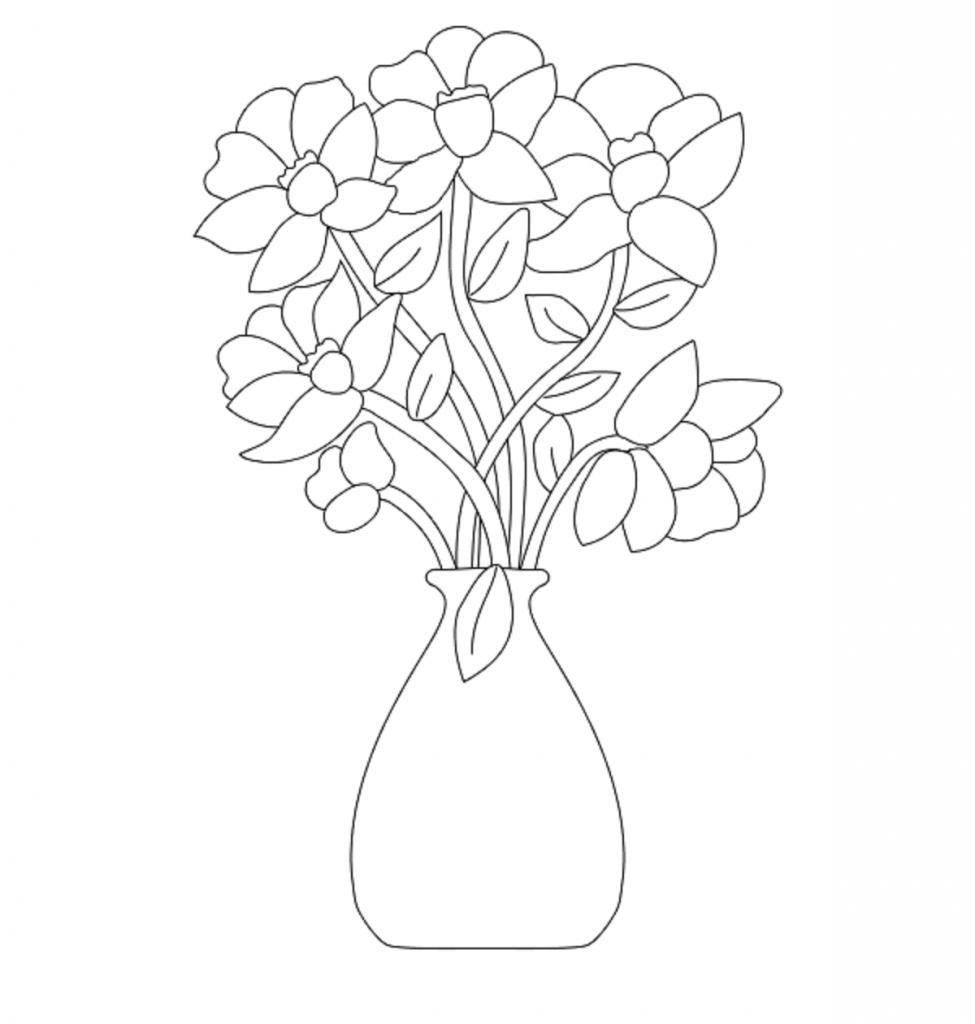 975x1024 Lotus Flower Vase Drawing Lotus Flowers Drawings Flower Drawing