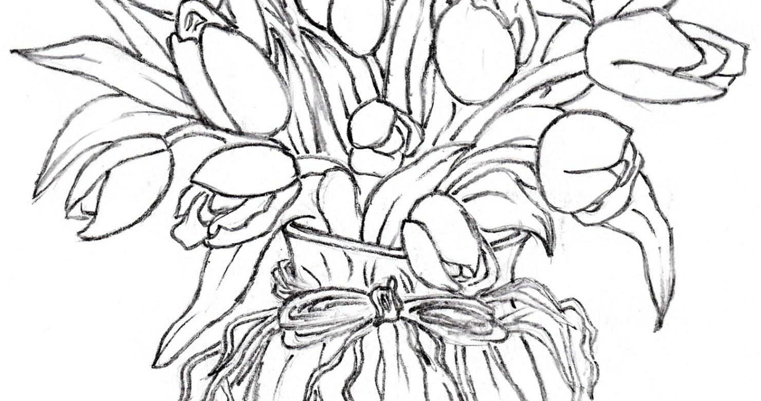 1481x780 Vase Flower Vase Sketch Wonderful How To Draw A Vase Drawn Still