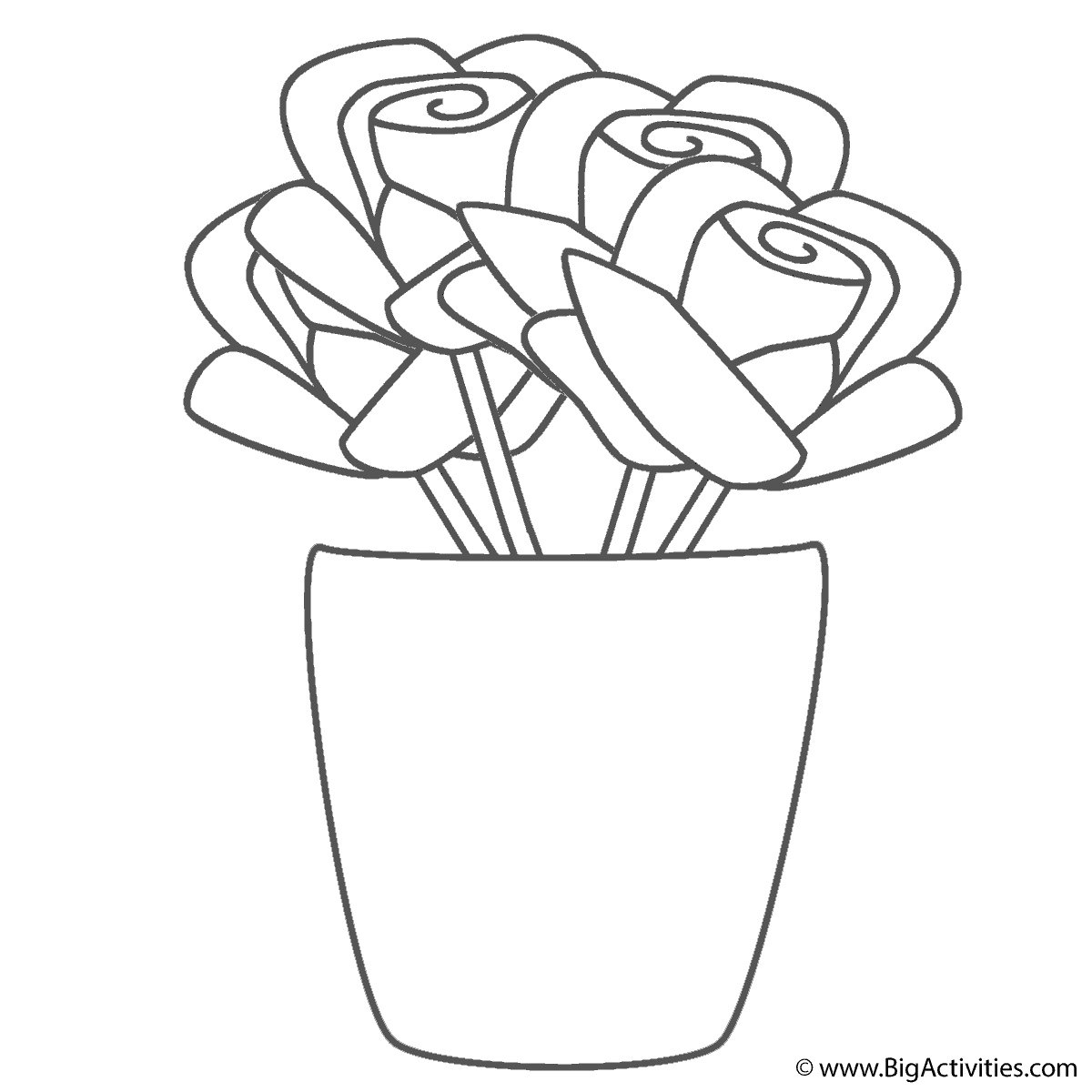 1200x1200 Coloring Pictures Of Flowers In A Vase