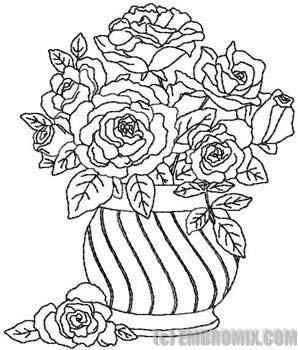 298x350 Drawn Vase