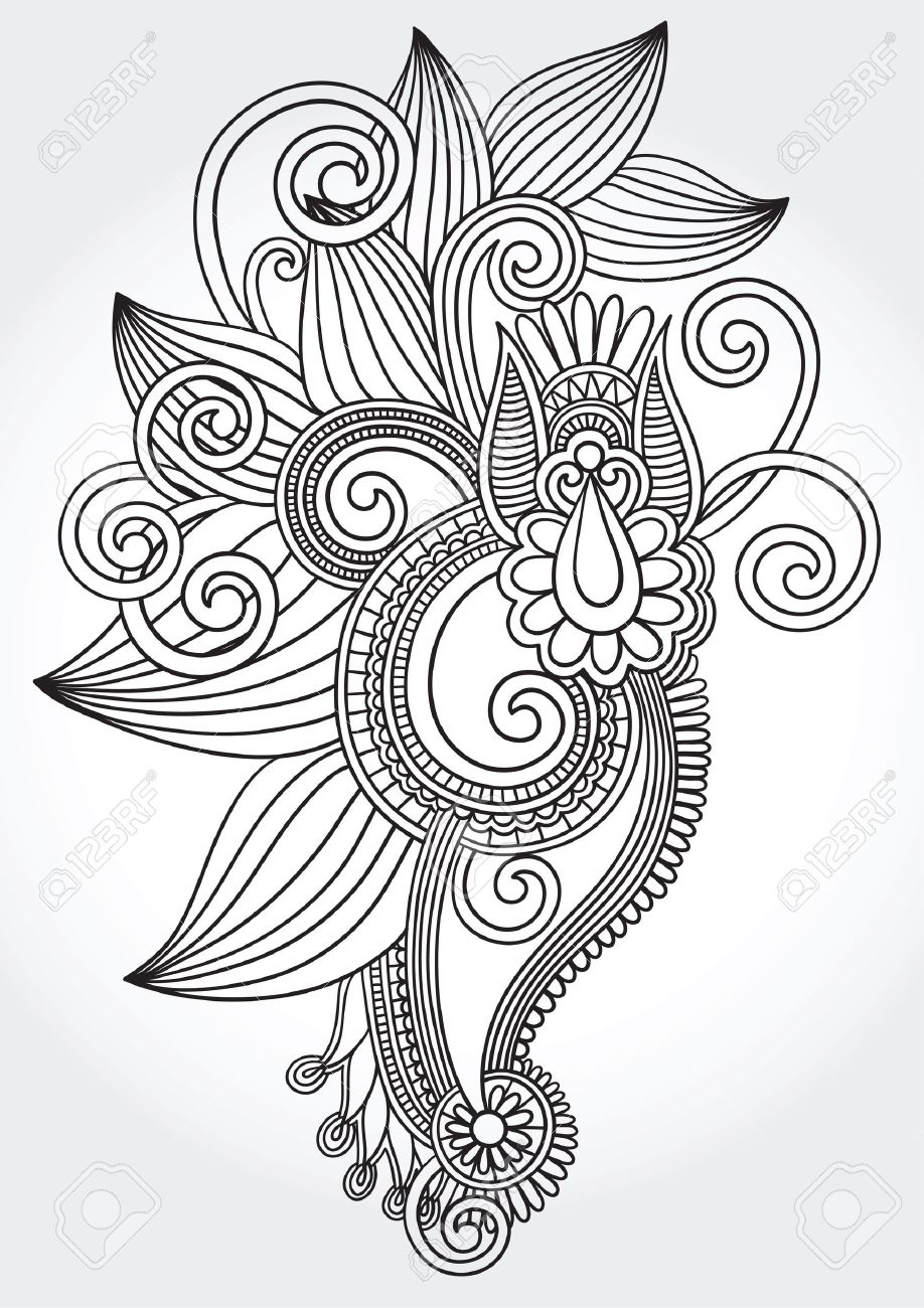 918x1300 Black And White Design Drawing Clipart