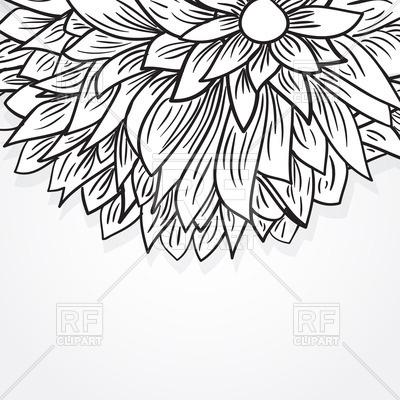 400x400 Black Sketch Peony Flower Royalty Free Vector Clip Art Image