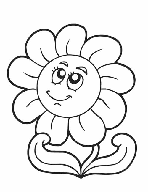 500x646 Flower Clipart Black And White
