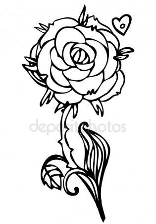 315x450 Sketch Of Orchid Flowers Stock Vector Wikki33