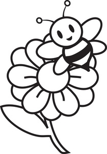 Flowers in black and white drawing at getdrawings free for 209x300 bee drawings clipart 41 mightylinksfo