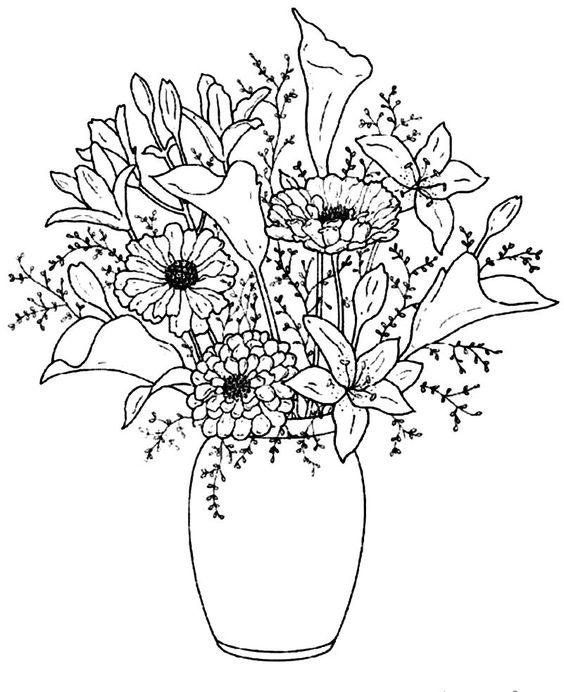 564x692 Flower Vase Drawing Beautiful Flower Vase