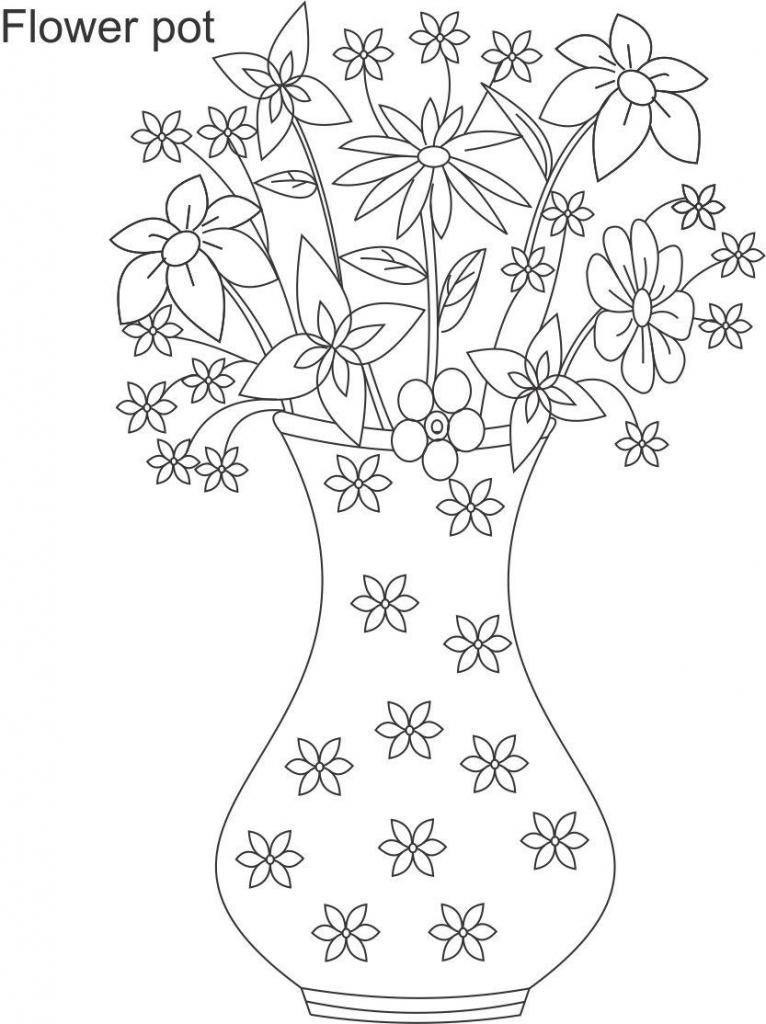 766x1024 Flower Vase Drawing Kid Drawing Of Flower Vase For Kid