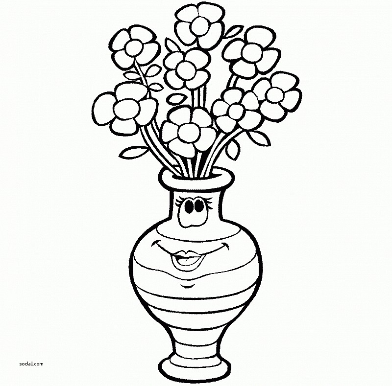 800x789 Inspirational How To Draw Flowers In A Vase