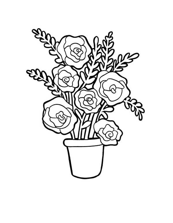 Flowers In Vase Drawing at GetDrawings.com | Free for personal use ...