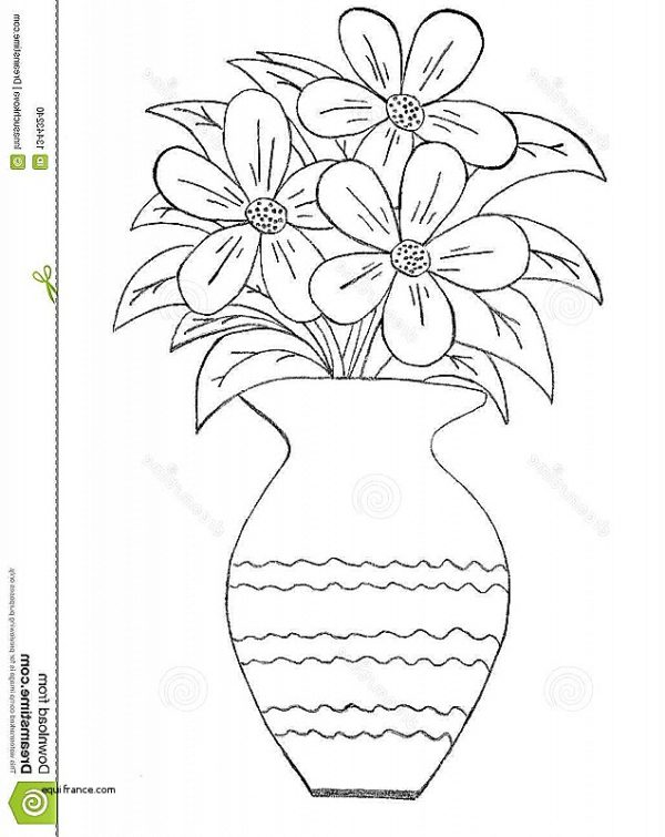 600x755 Vases Design Lovely How To Draw A Vase Of Flowers