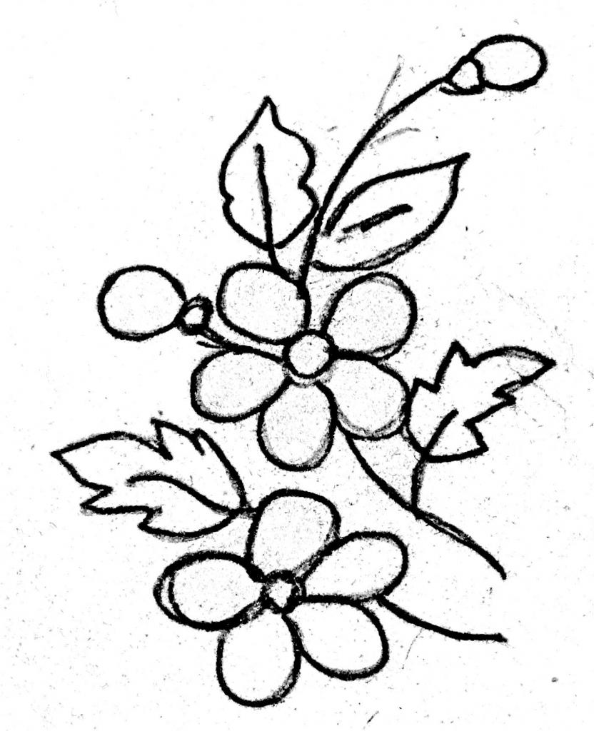 832x1024 Pencil Art With Fabric Design Flower The Best Flower Line