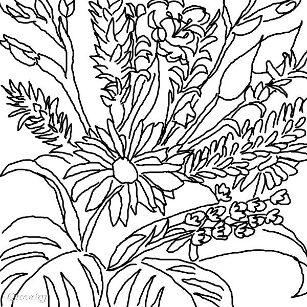 600x600 Drawings Of Flowers In Black And White