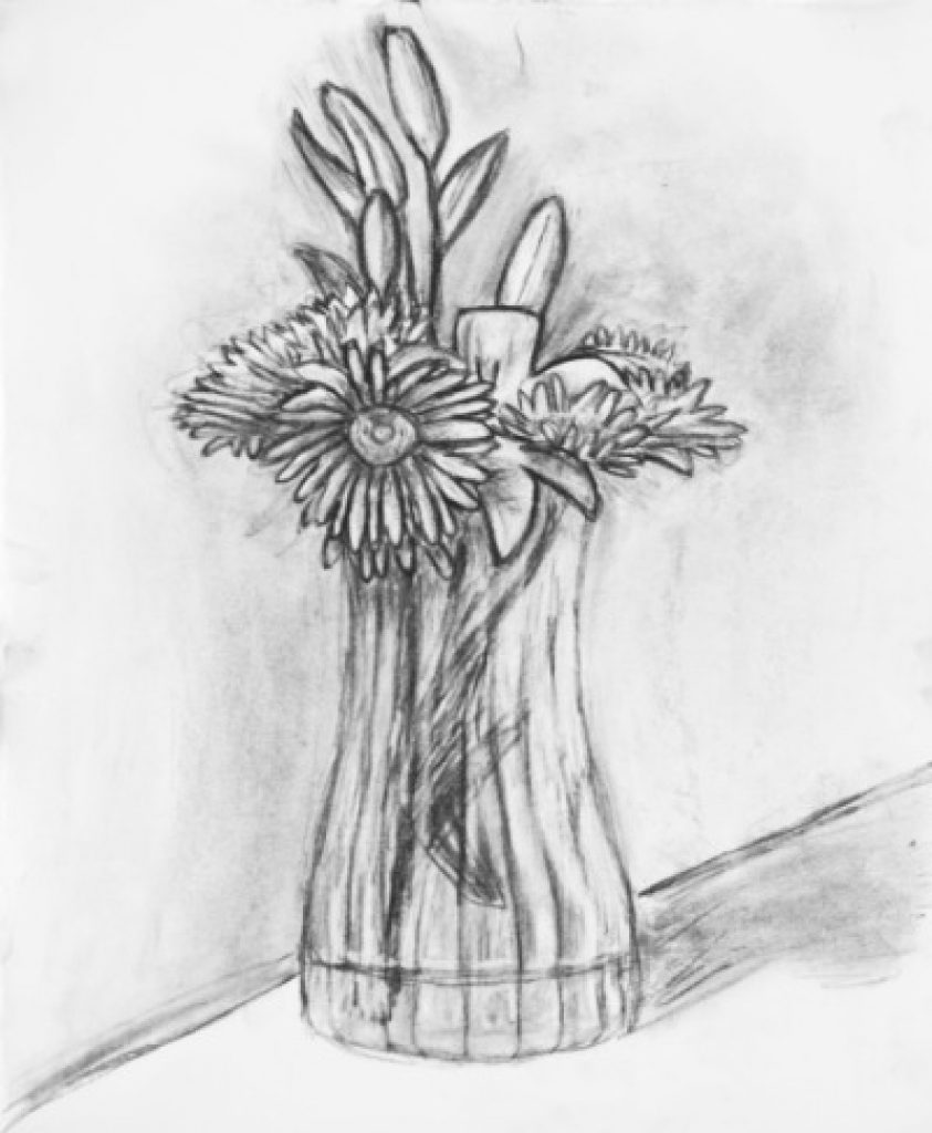 843x1024 Vases Pencils Sketches Of Flower Vase Pencils Sketches