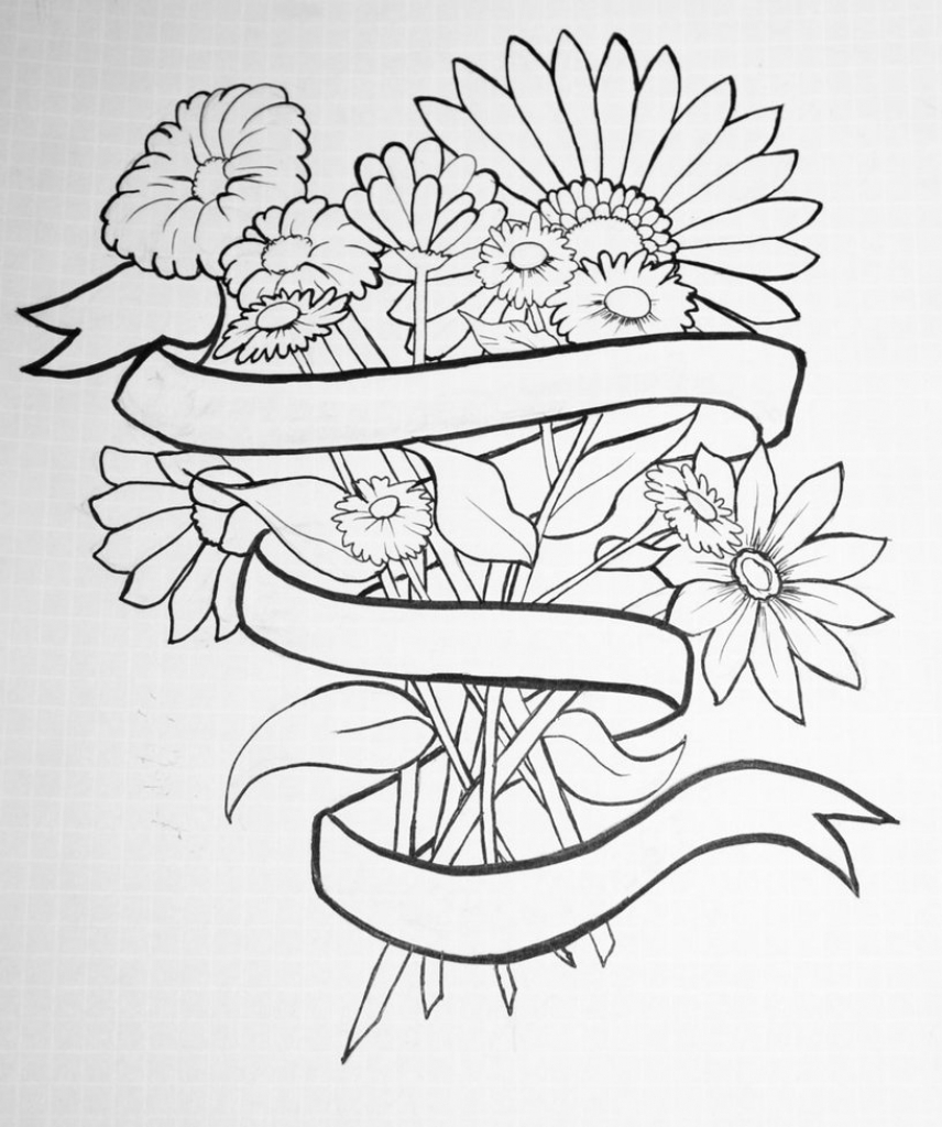 856x1024 Tumblr Drawing Flowers Tumblr Flower Drawing Flowers Tumblr