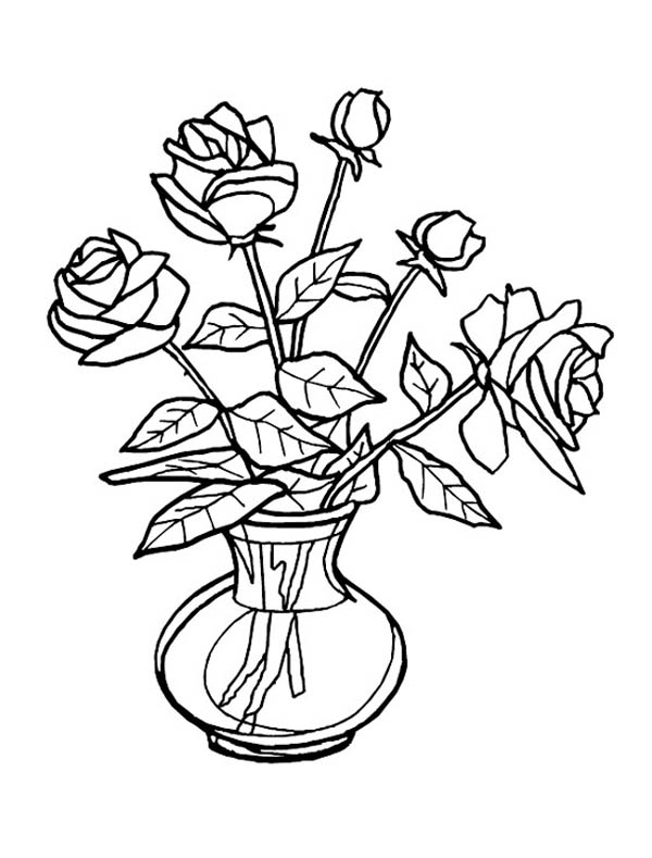 Flowers Vase Drawing at GetDrawings.com   Free for personal use ...