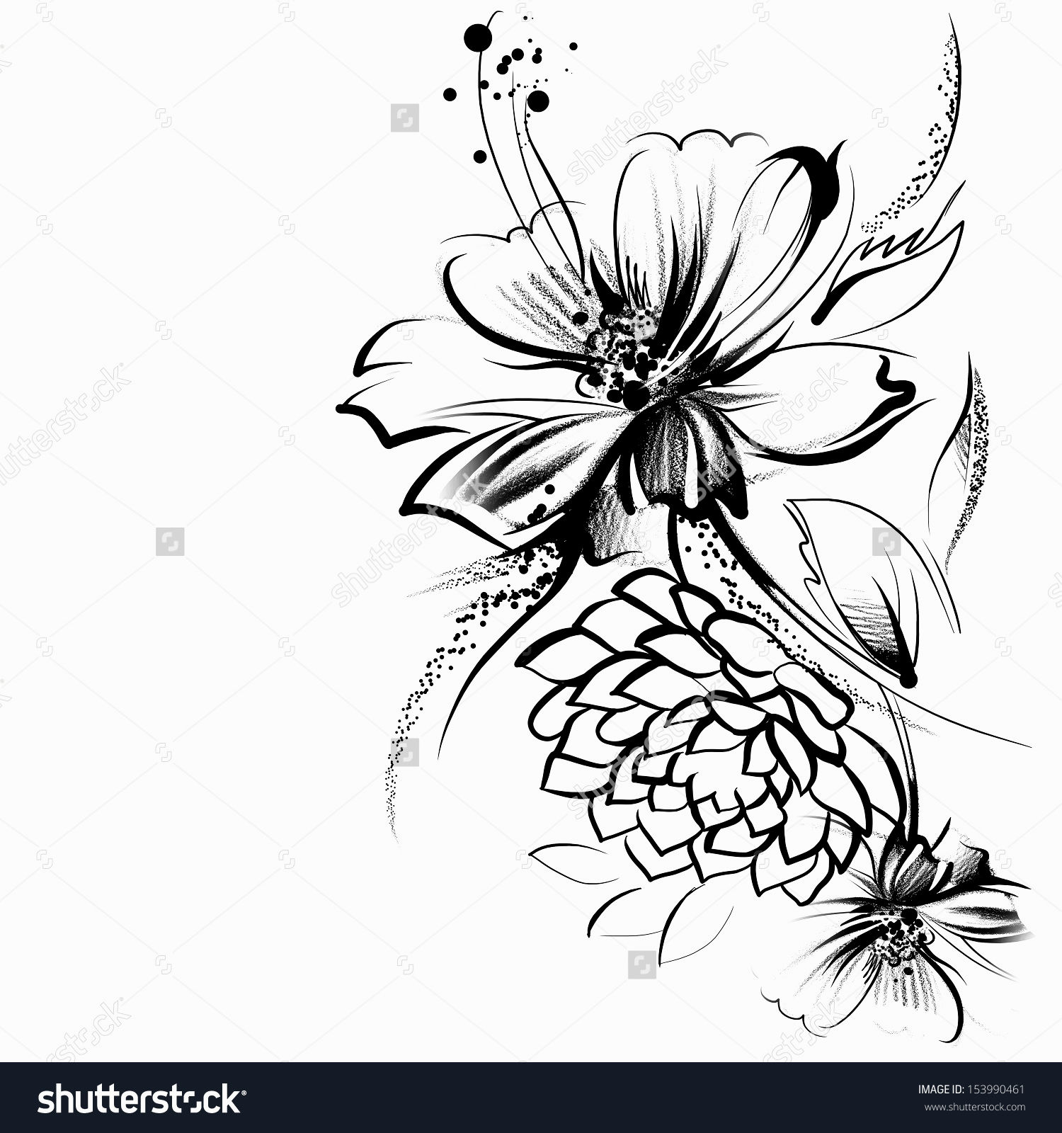 1500x1600 Drawings Of Flowers Flower Charms