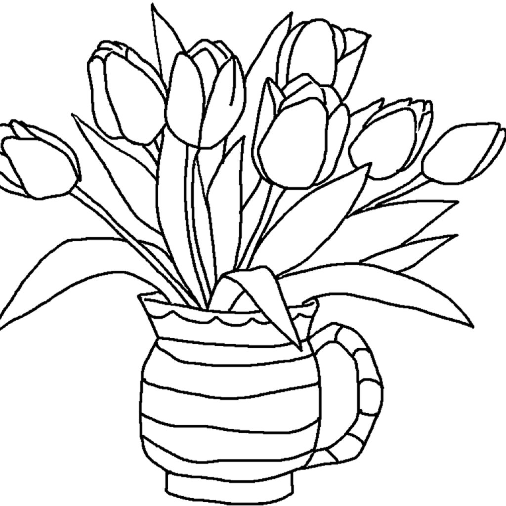 1024x1024 Drawn Flower Pencil For Kid