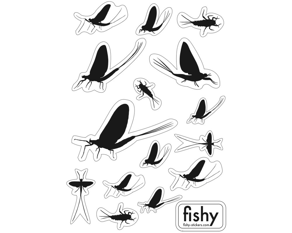 1000x800 Set Of 15 Mayfly Stickers Fly Fishing Sticker May Fly