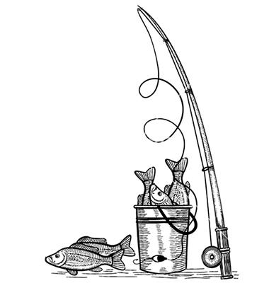 380x400 Fishing Pole Drawing Fishing Rod Fishes Black Black