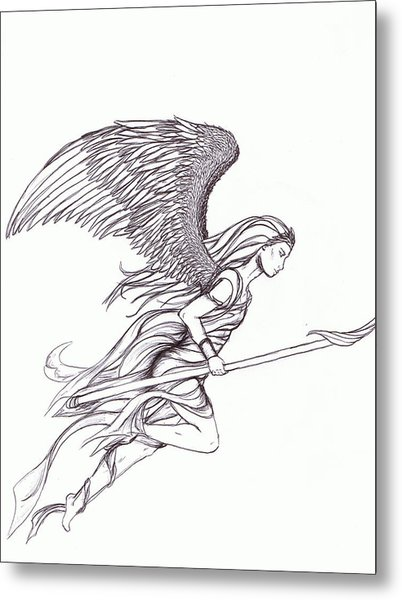 402x600 Flying Angel Drawing By Ashelee Rasmussen