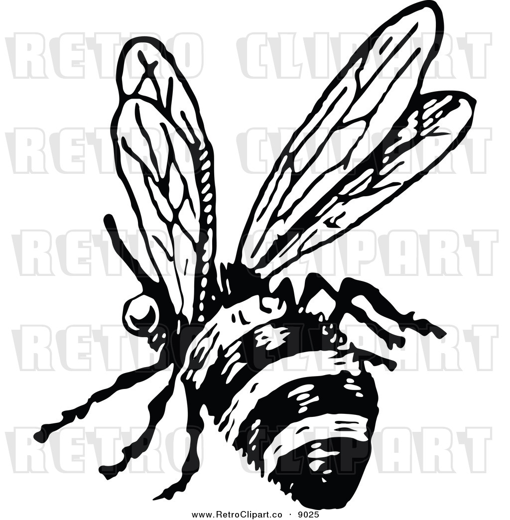 1024x1044 Flying Bee Black And White Clipart