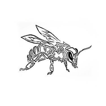 375x375 29 Cute And Sexy Bee Tattoo Designs