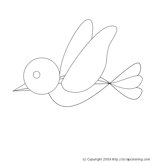 600x630 Flying Bird Coloring Pages