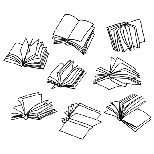 Flying Books Drawing At Getdrawings Com Free For
