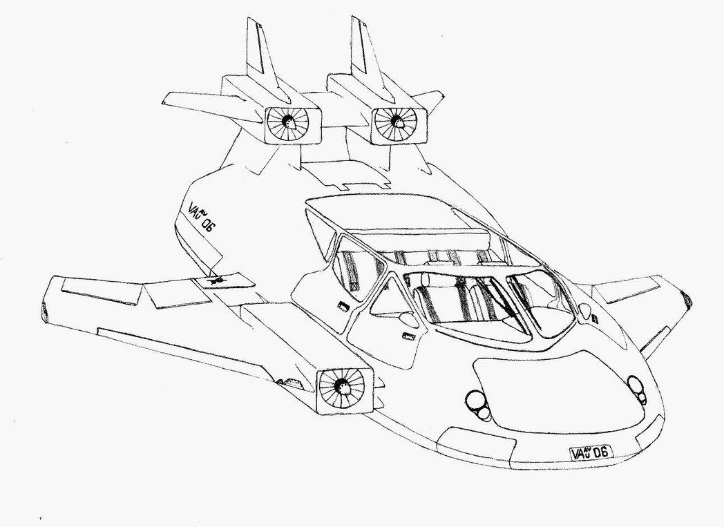Flying Car Drawing At Getdrawings Free Download