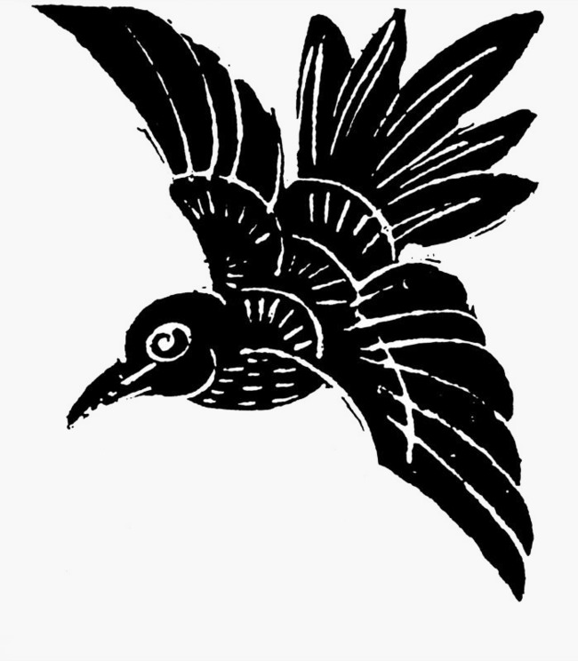 650x744 Hand Painted Flying Crows, Hand Painted, Design, Black Png Image