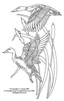 225x350 Flying Ducks Pattern Package