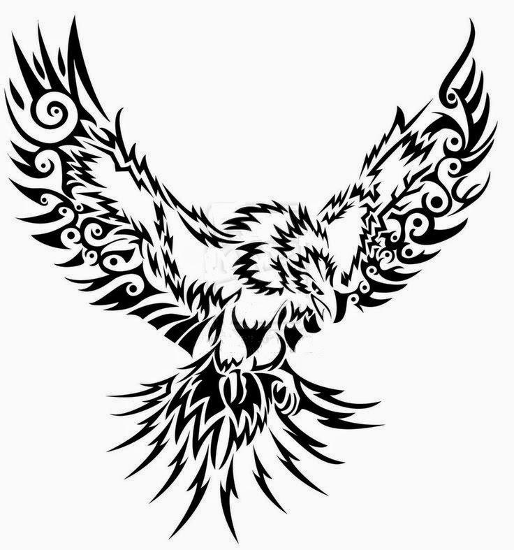 736x787 Flying Eagle Tribal Tribal Eagle, Eagle Tattoos