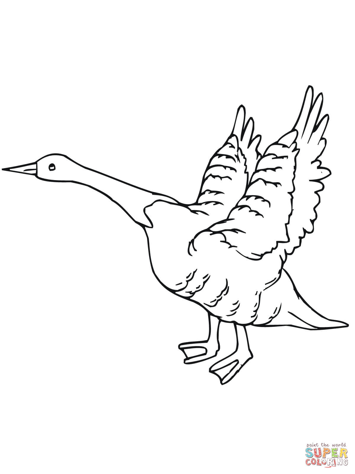 1200x1600 Goose Fly Away Coloring Page Free Printable Coloring Pages