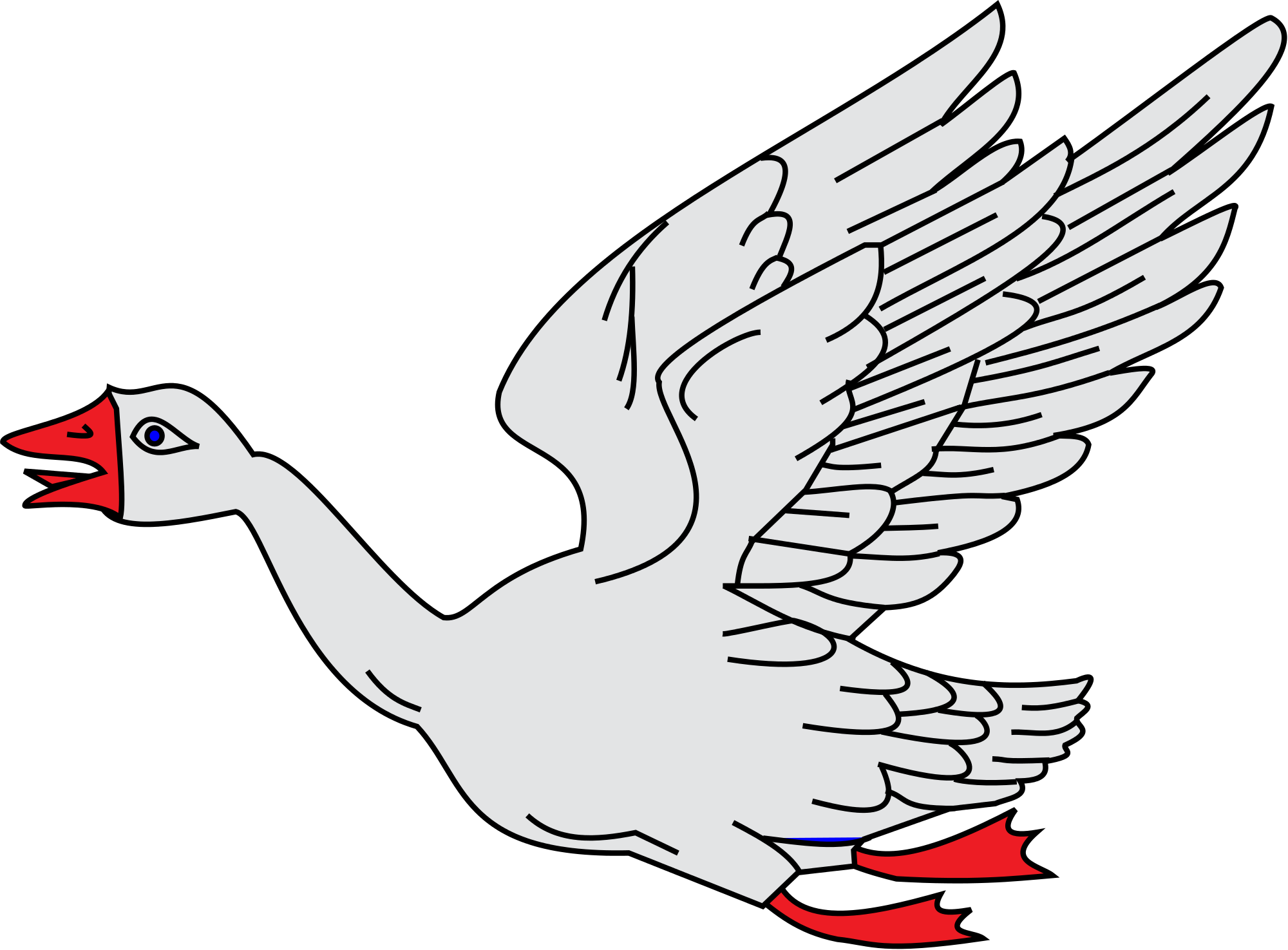 2000x1475 Fileflying Goose.svg