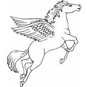 300x300 Flying Pegasus Coloring Page