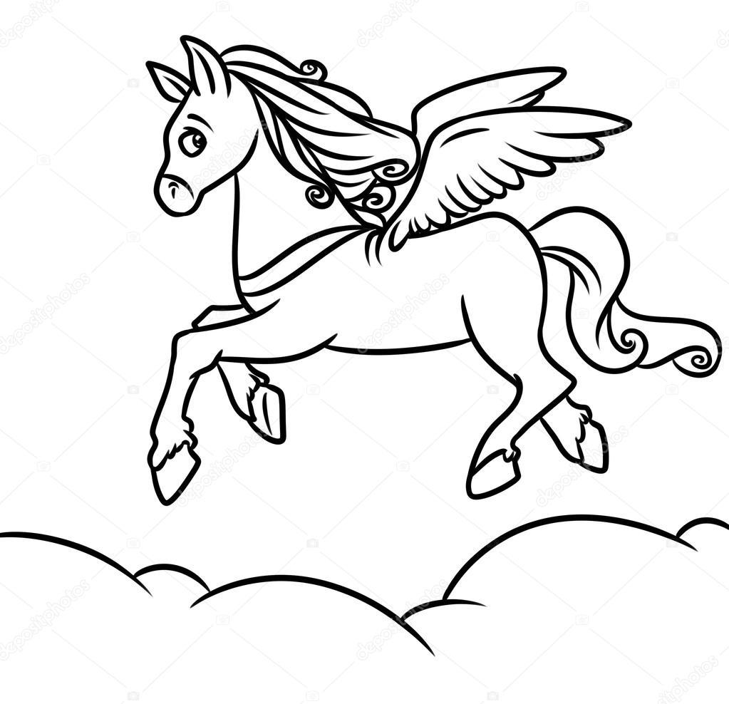 1023x988 Flying Horse Pegasus Stock Photo Efengai