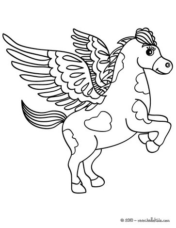 363x470 Pegasus, The Flying Horse Of Greek Mythology Coloring Pages