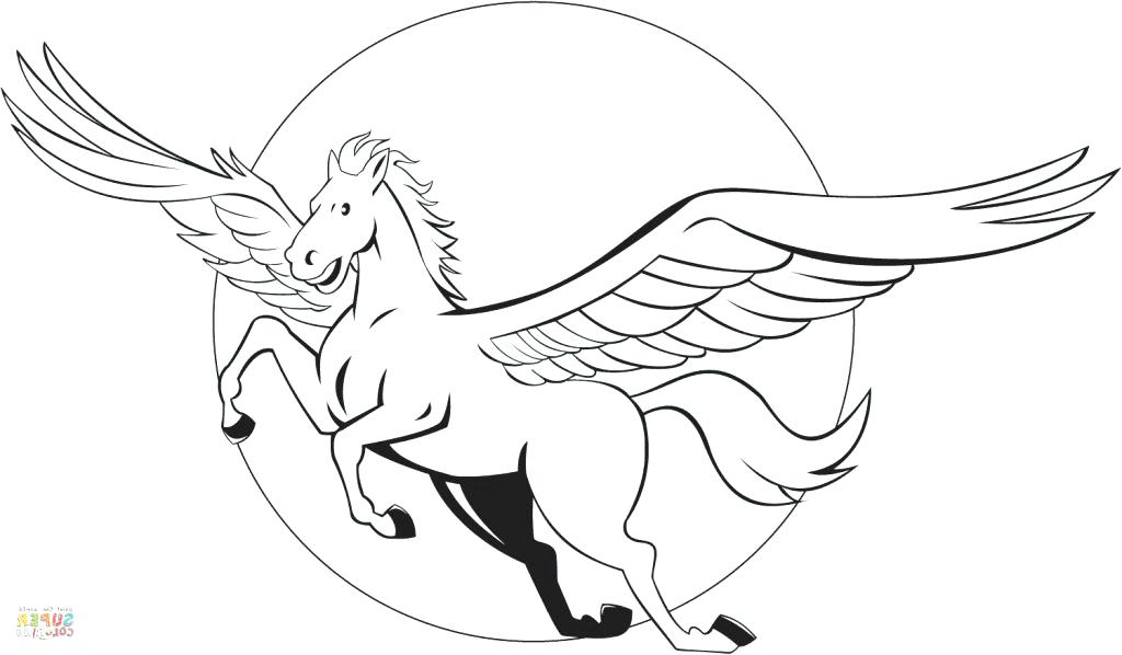 1024x598 Pegasus Coloring Page Fairy And The Flying Horse Of Mythology