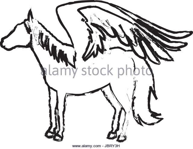 640x495 Pegasus Winged Horse Greek Mythology Stock Photos Amp Pegasus Winged