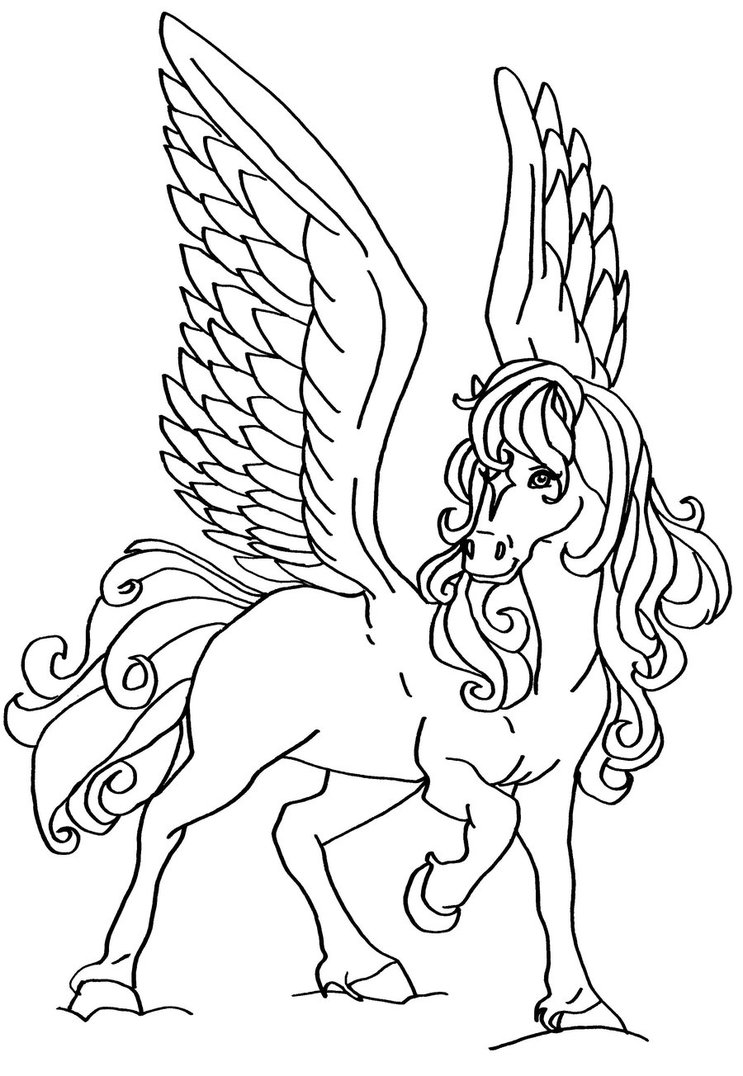 Flying Horse Drawing at GetDrawings.com | Free for personal use ...