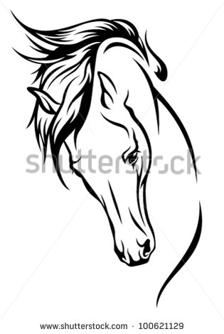 315x470 Horse Head With Flying Mane Vector Illustration Projects To Try