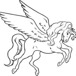 268x268 Coloring Page Flying Horse Archives