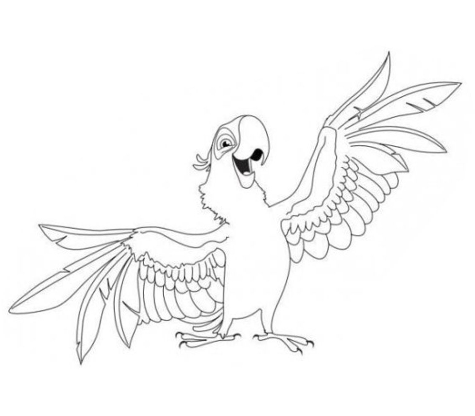 Flying Parrot Drawing at GetDrawings.com   Free for personal use ...